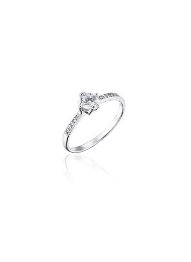 Tophills Diamond Co. 0,40 Ct Pırlanta Efekt Altın Romantica Yüzük Renkli